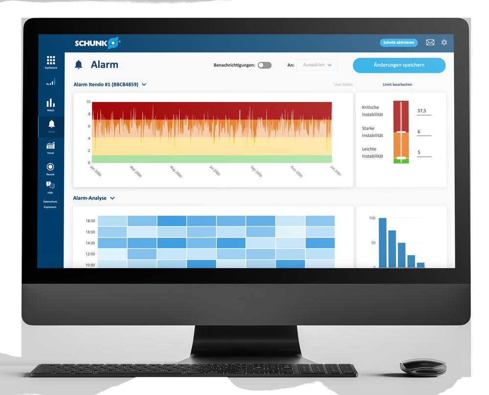 Schunk iTendo-Plattform - Alarm App